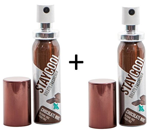 2PACK STAY COOL Mundspray - Mint Schoko - Chocolate Mint - Extra Frischer Atem - Atemfrisch - 2 x 20 ml - Breath Freshener