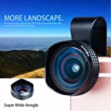 #1: Evileye APL-18mm Wide Angle No Distortion Cell Phone Camera Lens with Clip for iPhone 6S 6 Plus Smartphone -