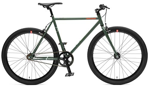 5b35f85f0f5 Retrospec Bicycles Mantra V2 Single Speed Fixed Gear with Sealed Bearing  Hubs, Hunter Green,
