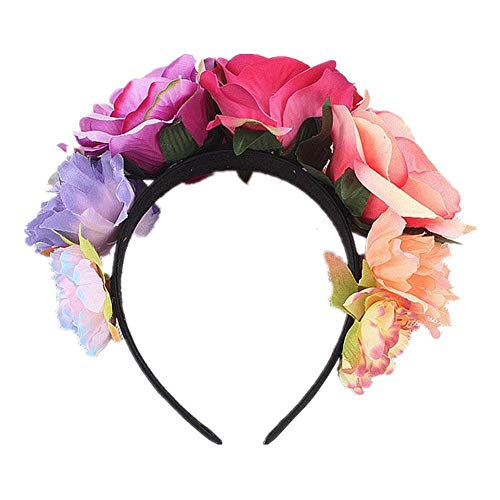 Flower Headpiece Kostüm - Stirnband Kostüm Rose Flower Crown Mexican Headpiece