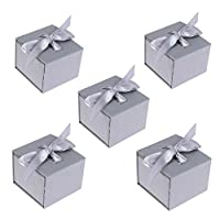TXIN 6 Pieces Bowknot Ribbon Gift Boxes Bracelet Displaying Case for Christmas, Hanukkah, Birthday Baby Shower Valentine