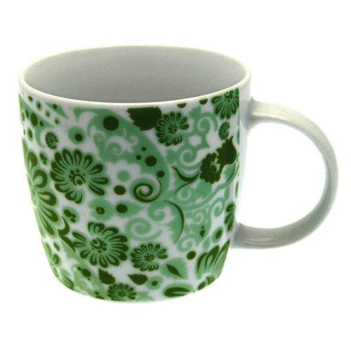 Tasse à Café en Porcelaine Fleur Fantasy, Vert, Gobelet, Tasse, 280 ml