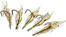 Pesca Senuelo - SODIAL(R)Pesca Senuelo Cebo del Gancho Suave Superligeros Vivid Camaron 5 x 4 cm 2 g