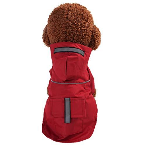 Makalon Hund Sommer Mode Freizeit Hunde Mantel Wasserdicht Kleid Poncho Winddicht Reflektierende Regenbekleidung Katze Frühling Komfort Leichte Regensjacke Regenmantel für Haustiere - Polar-poncho