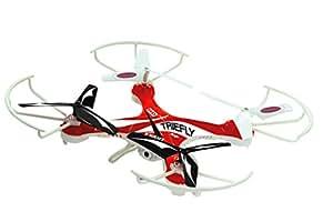 Jamara CD22- 422002 - Triefly AHP Quadrocopter avec caméra HD - Rouge