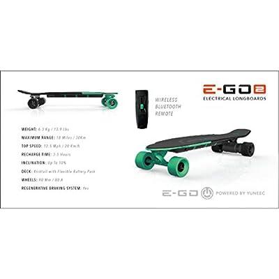 Yuneec EGO 2 E-Longboard Deep Mint inkl. Zubehör Elektro Longboard E-GO 2