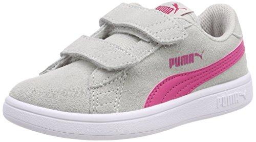 Puma Smash V2 SD V PS, Scarpe da Ginnastica Basse Unisex – Bambini, Grigio (Gray Violet-Beetroot Purple 12), 28 EU