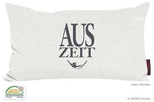 Kissen Zitat Auszeit - elfenbein 30x50 Made in Germany