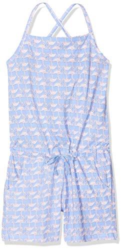 Schiesser Mädchen Jumpsuit Einteiliger Schlafanzug, Blau (Hellblau 805), 152 (Herstellergröße: S) - Flamingo Pyjama