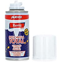 Remi Descarga Total Anti Chinches y pulgas Insecticida Chinches   Bomba Humo Insecticida   Aerosol Chinches   Acción Choque contra Plagas (150 ml)
