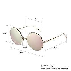 Fashion Sunglasses Men Trendy Pink Pc Lens Metal Frame Uv400 (YJMH023-3)
