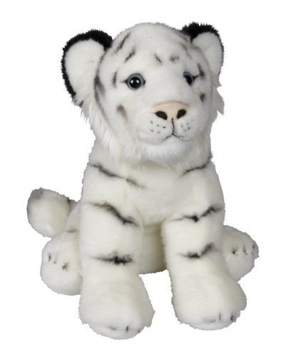 Medium Plush and Soft White Tiger 30cm