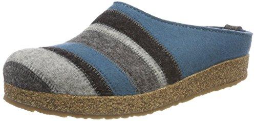 Haflinger Unisex-Erwachsene Stripes Grizzly Pantoffeln, Grau (Graphit 77), 40 EU