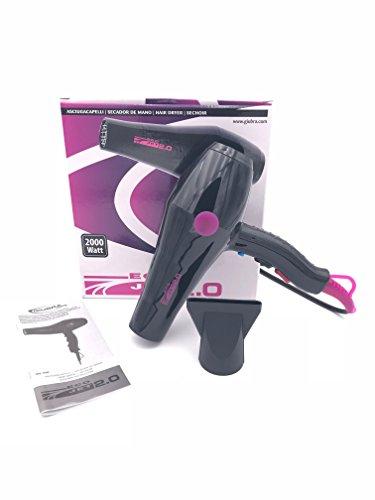Giubra Professional secador pelo Eco Jet 2.0| Potencia 2000W) negro