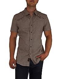 S&LU angesagtes Herren Hemd kurzarm im Karomuster Größe S - XL