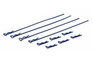 Team Associated ae1734-ft Body Clips, Metallic Blue
