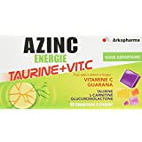 Arkopharma Azinc Vitamines/Minéraux Energie Taurine + Vitamine C 30 Comprimés à Croquer Dès 15 Ans