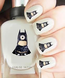 Nail Art Transfers, Minions Batman, Easy to use Nail art transfers
