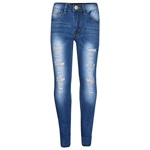 A2z 4 kids® bambini ragazze skinny jeans progettista denim strappato - girls jeans m617 light blue 9-10