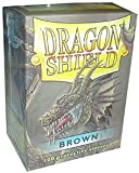 Dragon Shield Sleeves - BROWN - Standard Size Deck Protectors (100 ct) by Dragon Shield