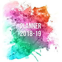 Planner 2018-19: Watercolor Design | Jul 18 - Dec 19 | 18 Month Mid-Year Weekly View Planner Organizer with Motivational Quotes + To-Do Lists