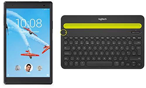 Lenovo Tab4 8 Plus Tablet (8 inch, 64GB, Wi-Fi + 4G LTE + Voice Calling), Aurora Black+ Multi Device Bluetooth Keyboard