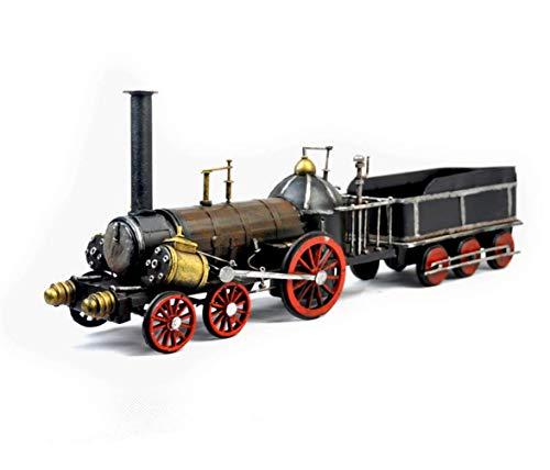 Modelle Handwerk Dekoration Dampfmaschine Zug, Metall Auto Fotografie Requisiten, Armee Spielzeug Für Jungen, Einfache Hause Perfekte Retro Schmuck 17,5 * 4,1 * 6,3 IN