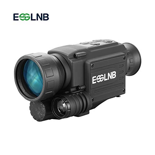 ESSLNB Visore Notturno Monoculare 4.5X40 Infrarosso HD Telecamera con 1.5 inch LCSI Schermo 8GB TF Carta e Borsa per la Caccia