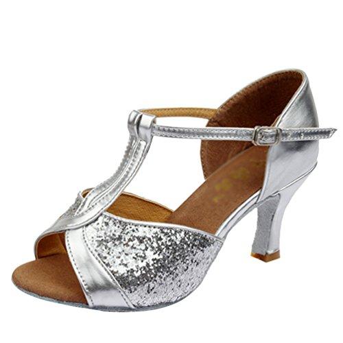 Lihaer donna paillette scarpe da ballo latino sandali da ballo alla moda scarpe da ballo per bambini adulti