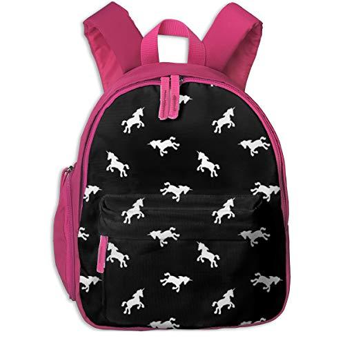 Zaino per bambini 2 anni,Unicorn Pattern_2396 - elladorine, Per scuole per bambini Oxford panno (rosa)
