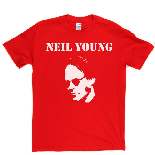 Neil Young 1 Canadian Singer 1960s 60s Rock T-shirt Rot