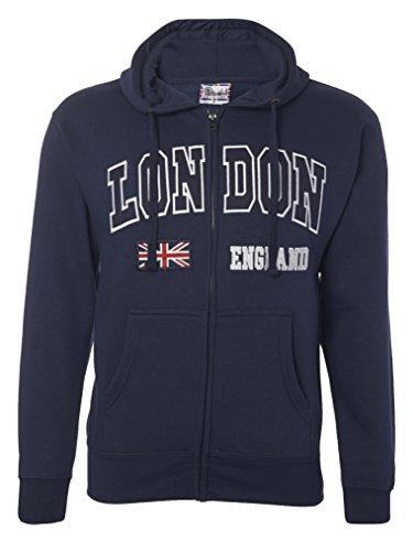 Sudadera con capucha y cremallera con diseño de Londres, Inglaterra a