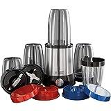 Russell Hobbs 23180-56 Blender Mixeur Nutriboost Multifonctions 700W, Préparations Vitaminées, 15 Accessoires - Inox Brossé