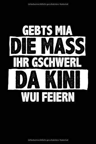 Da Kini wui feiern (bayerisch): Notizbuch / Notizheft für Oktoberfest Oktoberfest Wiesn Outfit Deko Party Hemd A5 (6x9in) liniert mit ()