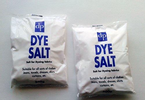 2 x 500g Farbstoff Salz für Färben Stoff Kleidung Vorhänge Jeans von Dri Pak