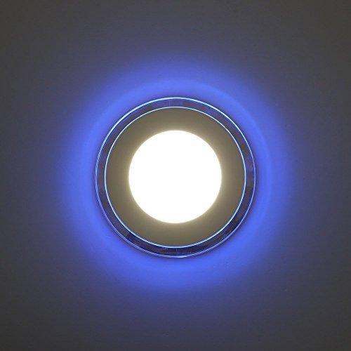 Preisvergleich Produktbild Amzdeal 15W LED Panel Deckenleuchte,  Durchmesser 160mm,  neutralweiß+blau
