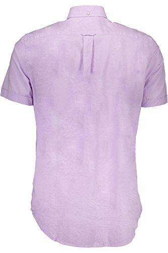 GANT Herren Hemden mit Lockerem Schnitt the Washed Pinpoint Oxford Ss Bd Weiß VIOLA 517