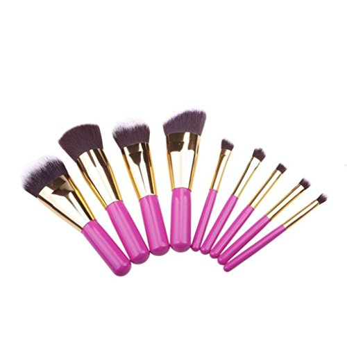 Ouneed® brosse/ 9 PCS brosse cosmétiques Pinceaux Foundation Powder Eyeshadow Brush