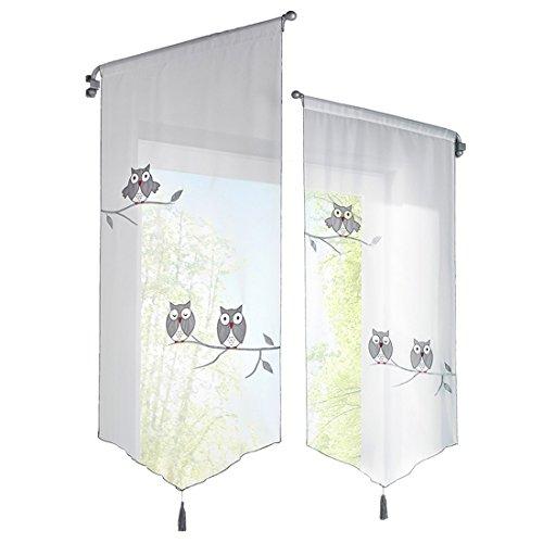 Urijk tenda trasparente owl, tendina carina da bambini per finestra soggiorno bagno doccia decorazione di casa parete