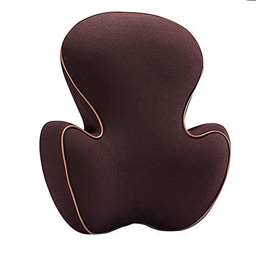 MMXD Taillenstützkissen / -Kissen, für orthopädische Rückenlehne des Autositzes, Büro- / Computer-Stuhl, atmungsaktiv und ergonomisch, lindert Rückenschmerzen,Brown -