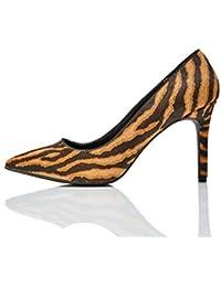 Marque Amazon - find. Point High Heel Leather Court, Escarpins femme