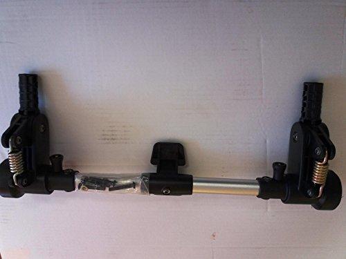 Hauck Malibu All in One Achs-und Bremseinheit, Hinterachse, Bremse, silber-schwarz