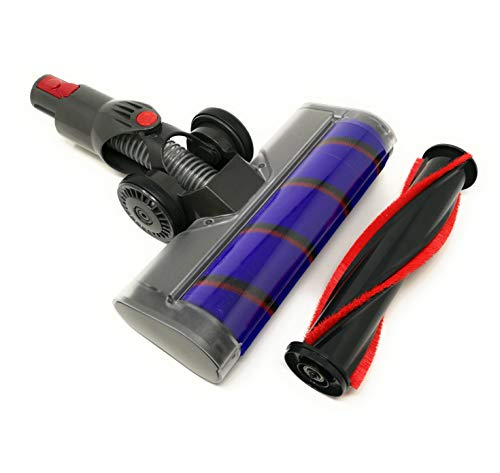 Navi+ Turbo Brush Compatible avec Dyson V7, V8, V10, V11 Turbo Brush mit Soft-und Bürstenrolle