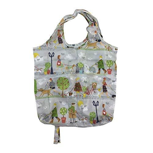 Chien Walkers Arbres Gris Rouge Vert Pliable Shopping Bag 46cm X 61cm