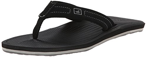 Topsider Sperry Thong Männer (Sperry Top-Sider Men's Sharktooth Thong Flip Flop, Black, 7 M US)
