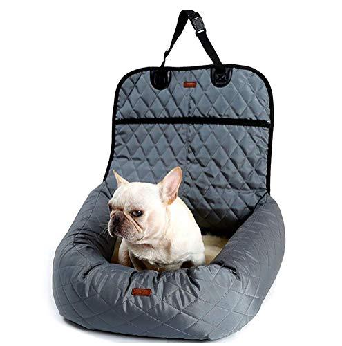 LOHUA Autositzkissen Haustier, Tierbett,Haustier Hund Katze Auto Booster Sitz Tasche Träger Pet Bed & Lounge,Gray