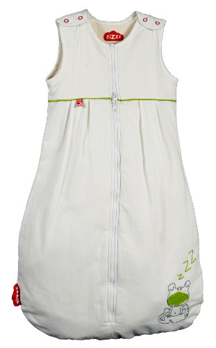 4 Jahreszeiten Bio Kinderschlafsack 110 cm (24-48 M & 2 weitere Größen) in vielen süßen Designs - Atmungsaktiver Schlafsack für einen erholsamen Schlaf mit Zizzz -