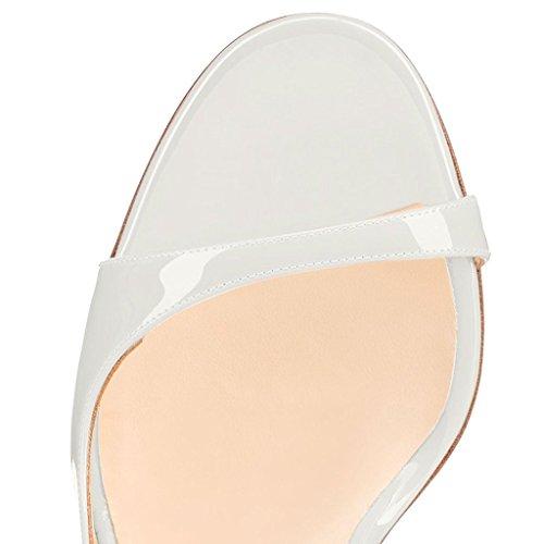 Blanc Toe Edefs High Escarpins Aiguille Peep Chaussures 120mm Haut qI6wSS