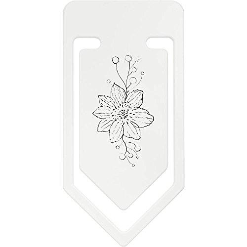 Azeeda 141mm 'Blume mit Ranken' Riesige Plastik Büroklammer (CC00005602) (Ranken Klammern)