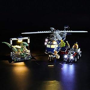 LIGHTAILING Set di Luci per (Jurassic World Inseguimento Sull'elicottero di Blue) Modello da Costruire - Kit Luce LED… 0716852282111 LEGO